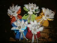 sacchetto con fiore stoffa e juta