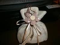 sacchetto cicciotto con fiore stoffa