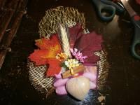 sacchetto cuore + cuoricino colori d'autunno